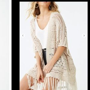 Forever 21 Casual open knit cardigan/cover-up